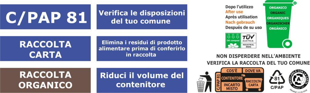 Contenitori in Cartoncino+PLA riciclabili con l'organico e la carta